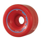 Radar Riva Roller Skate Wheels - 4 Pack, Red, medium