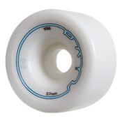 Radar Riva Roller Skate Wheels - 4 Pack, White, medium