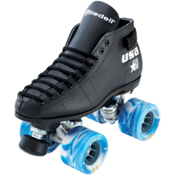 Riedell 122 Cobalt Boys Speed Roller Skates, Black, medium