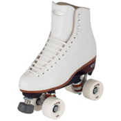 Riedell 220 Epic Womens Artistic Roller Skates, White, medium