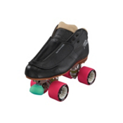 Riedell 965 Minx Womens Derby Roller Skates, Black, medium