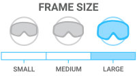 Frame Size: Large - fits larger faces or skiers seeking oversized style