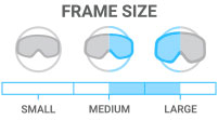 Frame Size: Medium/Large - accommodates both medium and large face shape