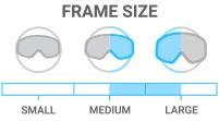 Frame Size: Medium/Large - accommodates both medium and large face shape