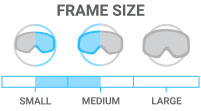 Frame Size: Small/Medium - accommodates both small and medium face shape