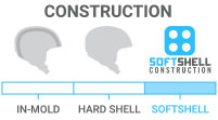 Shell Construction: Soft Shell - flexible, best for low-energy, minor impacts