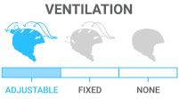 Ventilation: Adjustable - ability to adjust for more, less or no air