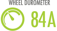 Durometer: Hardness of wheel determining best for indoor or outdoor use