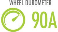 Durometer: Hardness of wheel determining best for indoor or outdoor use