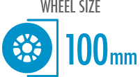 Size: 100mm - Diameter of the wheel