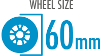 Size: 60mm - Diameter of the wheel