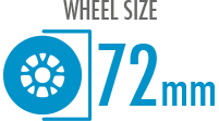 Size: 72mm - Diameter of the wheel