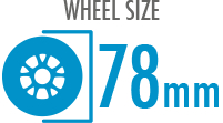 Size: 78mm - Diameter of the wheel