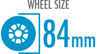 Size: 84mm - Diameter of the wheel