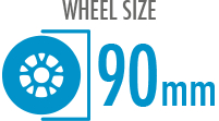 Size: 90mm - Diameter of the wheel