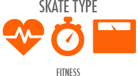 Skate Type: Fitness - speed and distance for more experienced skaters