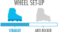 Wheel Setup: Straight - best landing platform and stability for tricks