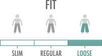 Fit: Baggy style with more room in the hips and thighs