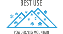Best Use: For hard carving on steep off-piste or hike-to terrain