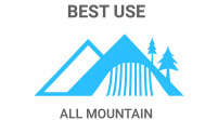 2015 Volkl Bridge Ski Best Use: All Mountain skis are for on-trail; some off-trail ability