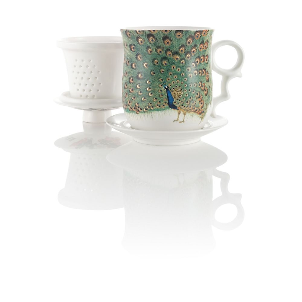 Teavana Grand Peacock Infuser Tea Mug