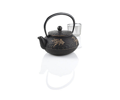 Japanese Goldfish Cast Iron Teapot