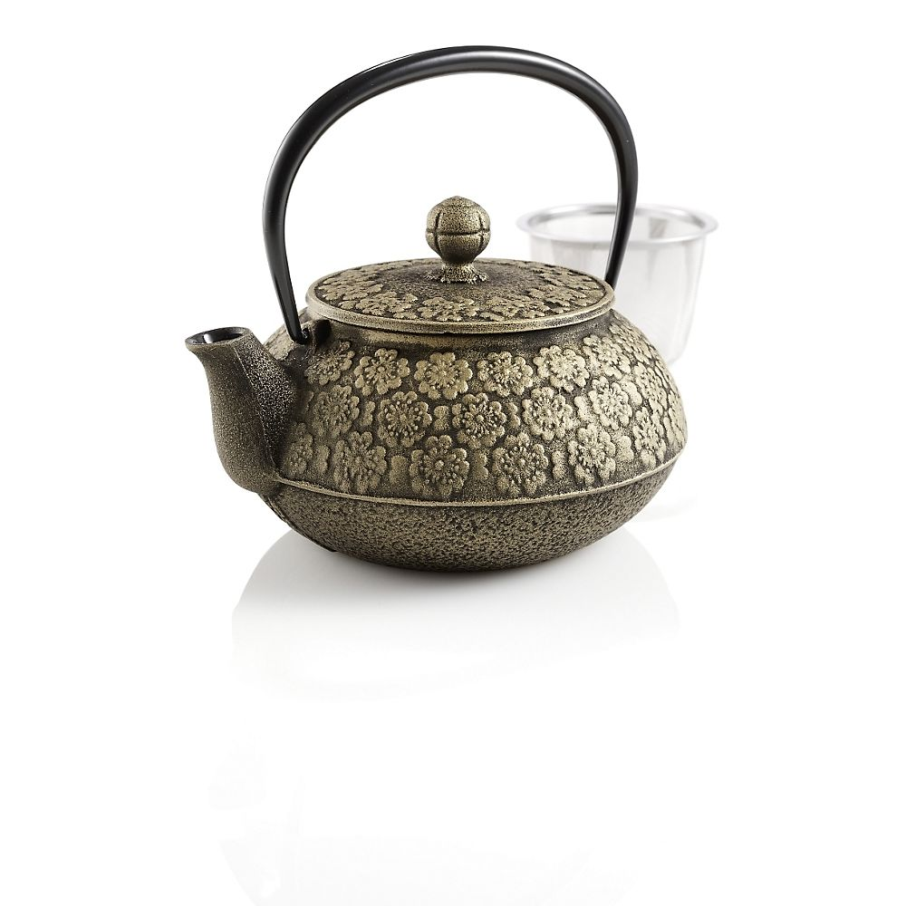 Small Japanese Cherry Blossoms Cast Iron Teapot