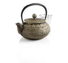 Cherry Blossoms Japanese Cast Iron Teapot
