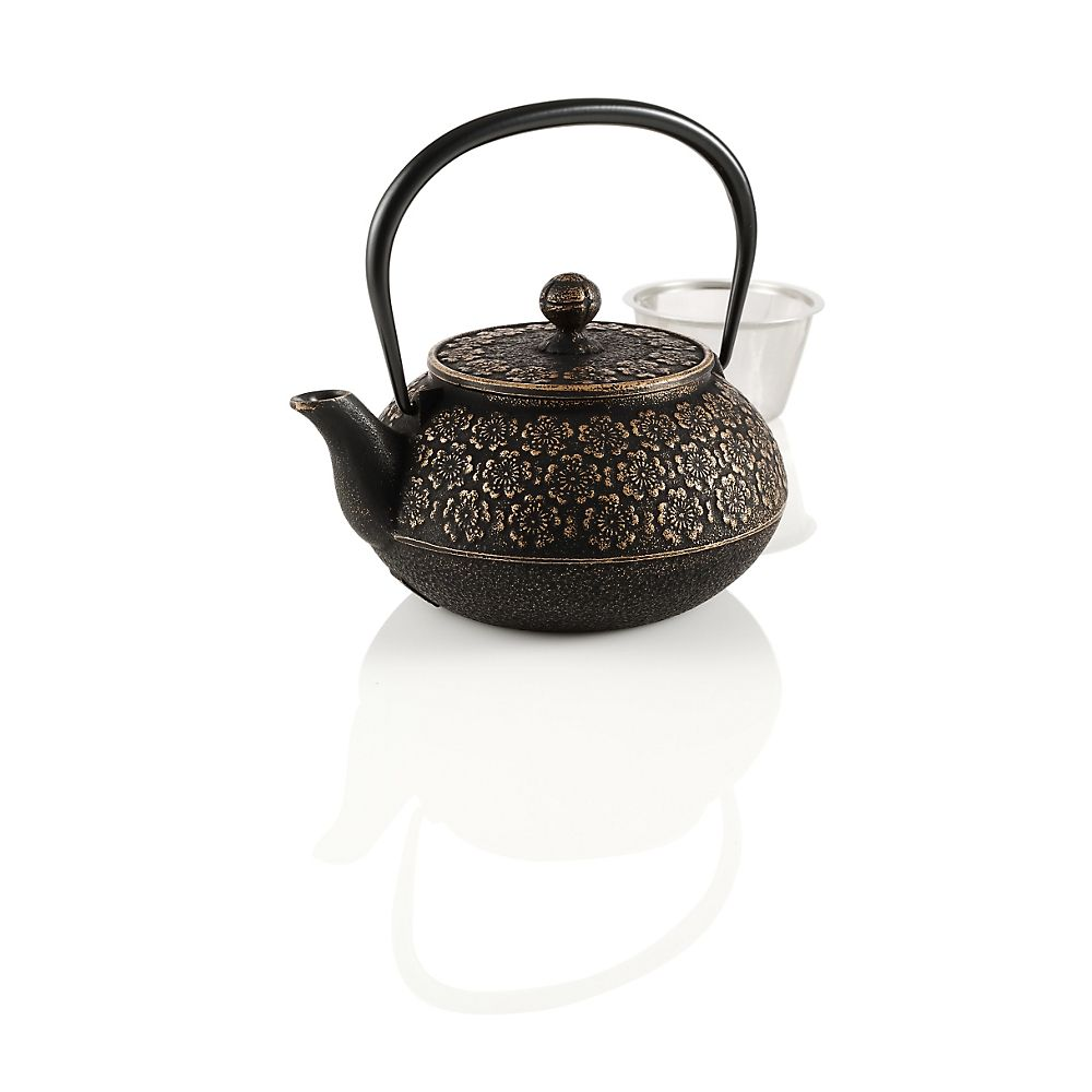Teavana Medium Japanese Cherry Blossoms Cast Iron Teapot