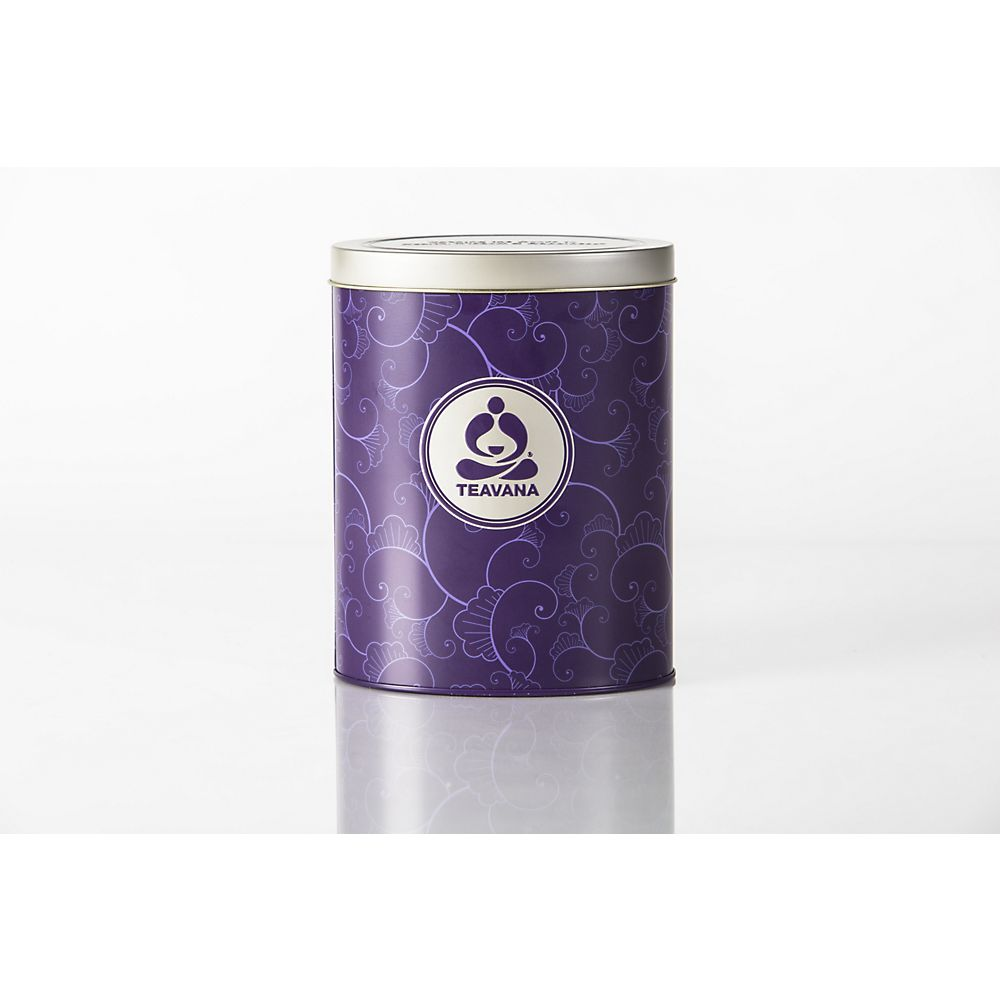Teavana Oval Tea Tin, purple