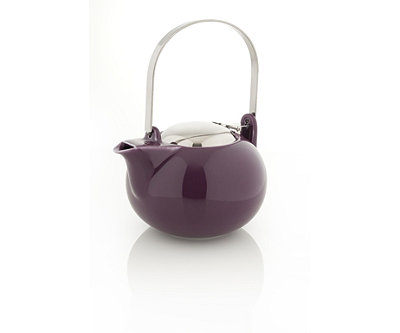 Porcelain Teapot with Stainless Steel Handle