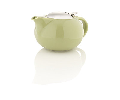 Porcelain Teapot with Stainless Steel Lid