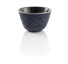 Wave Japanese Cast Iron Tea Cup