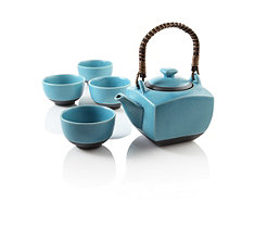 Biwa Blue Teapot Set