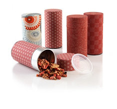 Red Tea Tins
