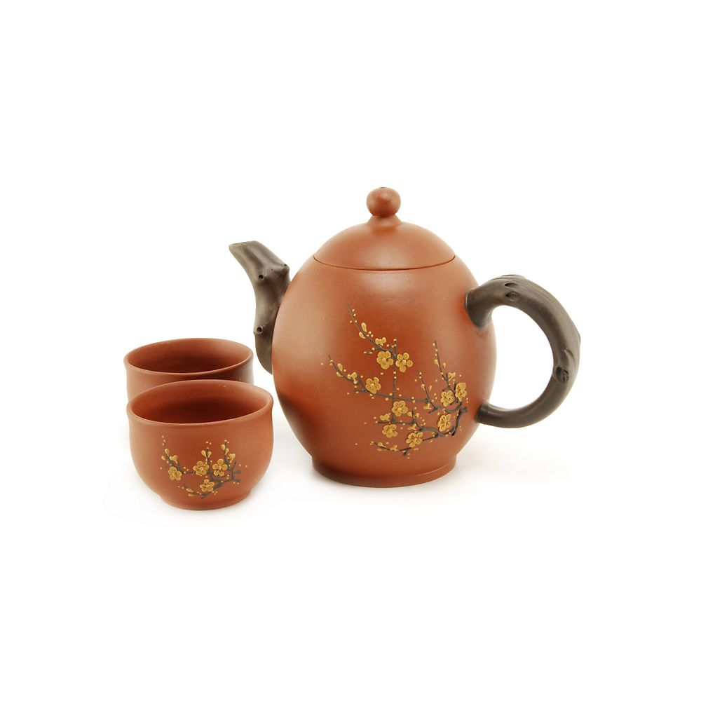 Teavana red oval blossom yixing teapot set innopoint - Teavana tea pots ...