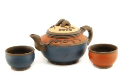Teavana Tricolor Yixing Teapot Set