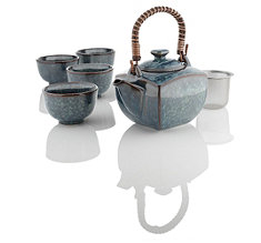 Denim Blues Teapot Set