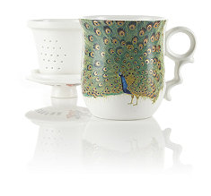 Grand Peacock Infuser Tea Mug