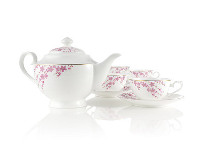Sakura Petals Bone China Tea Set