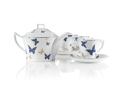 Gossamer Butterflies Porcelain Tea Set