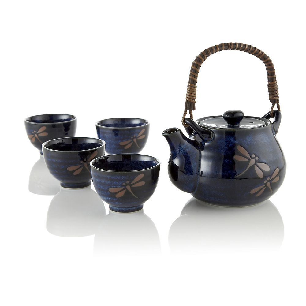 Teavana midnight dragonfly ceramic tea set innopoint - Teavana tea pots ...
