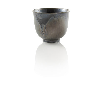 Osaka Black Metallic Tea Cup