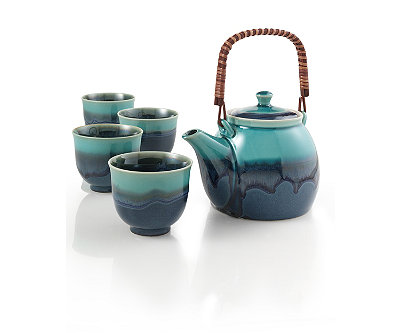 Azure Blue Teapot Set