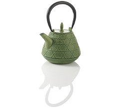 Stitch Green Cast Iron Teapot