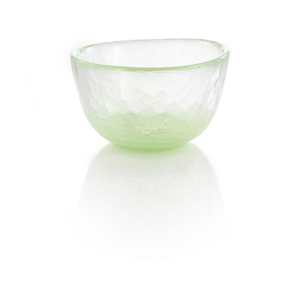 Green Bubble Glass Tea Cup
