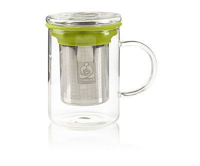 Remi Glass Tea Mug with Stainless Steel Infuser