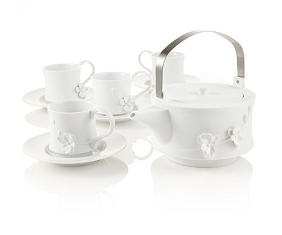 White Orchid Teapot Set