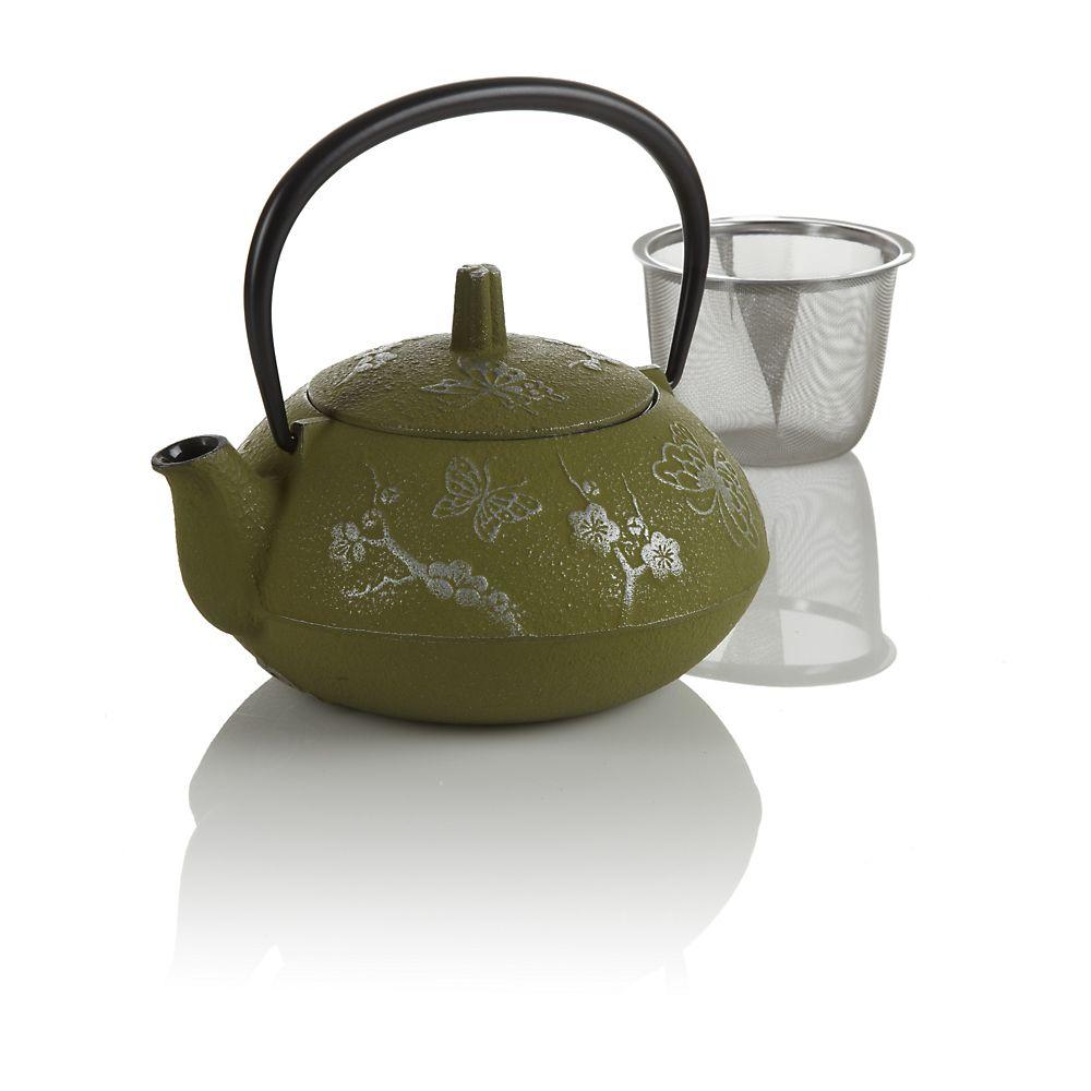 Teavana green butterfly cast iron teapot innopoint - Teavana tea pots ...
