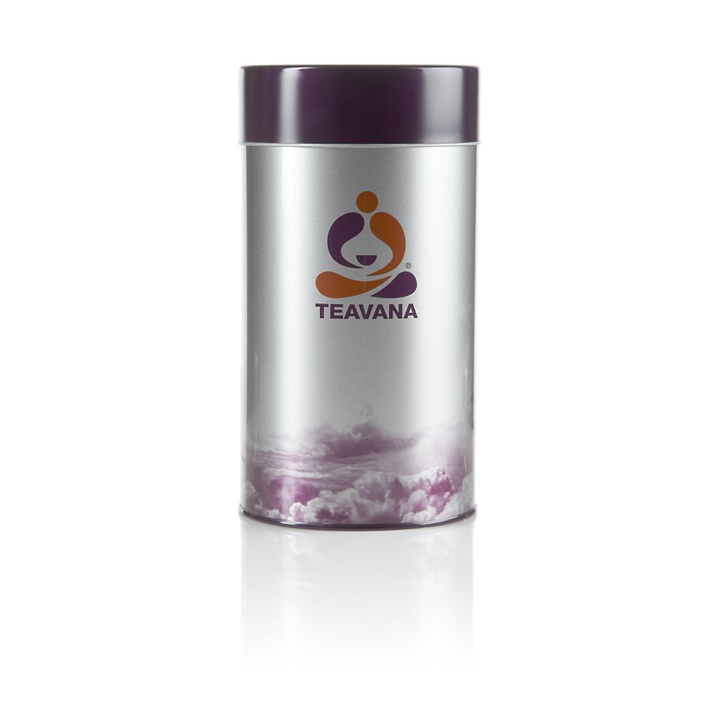Teavana Citrus Tea Tin, withstands acidic citrus vapors of citrus teas